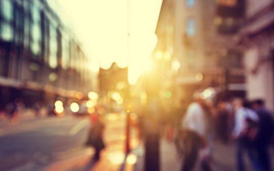 WirelessCar blurred city street