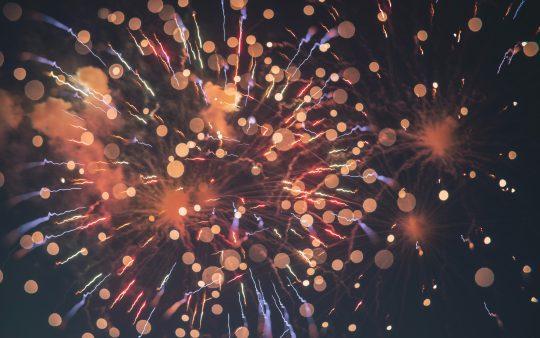 Fireworks close-up